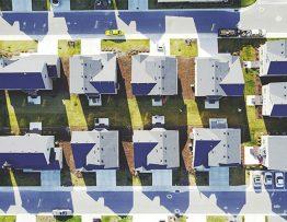 Quartier érigé par un promoteur immobilier